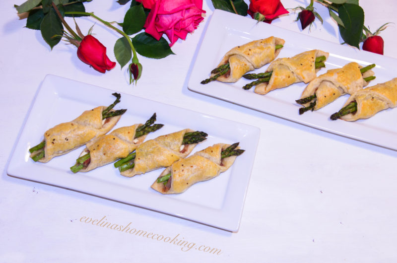 Puff Pastry Prosciutto and Asparagus Appetizers